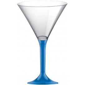 Kieliszki Plastikowe Koktajl na Podstawie Niebieski Przezroczyste 185ml 2P (20 Sztuk)