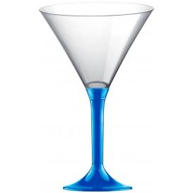 Kieliszki Plastikowe Koktajl na Podstawie Niebieski Mediterraneo 185ml 2P (20 Sztuk)