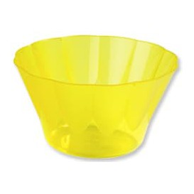 Kieliszki Royal na Koktajl Żółty Plastikowe 500ml (25 Sztuk)
