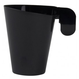 Filiżanki Plastikowe Design Czarni 155ml (12 Sztuk)