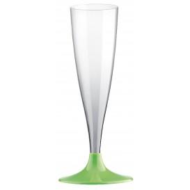 Copa de Plastico Cava con Pie Verde Lima 140ml (20 Uds)