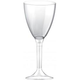 Copa de Plastico Vino con Pie Transparente 180ml (20 Uds)