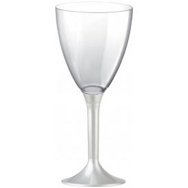 Kieliszki Plastikowe Wino na Podstawie Białe Perełka 180ml 2P (20 Sztuk)