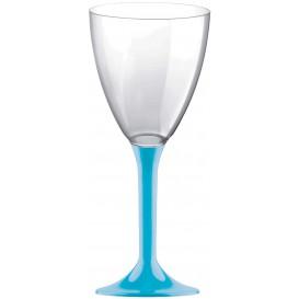Kieliszki Plastikowe Wino na Podstawie Turkusowe 180ml 2P (20 Sztuk)