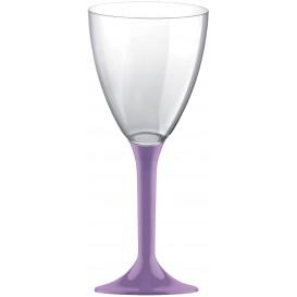 Kieliszki Plastikowe Wino na Podstawie Liliowa 180ml 2P (20 Sztuk)