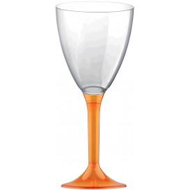 Kieliszki Plastikowe Wino na Podstawie Orange Przezroczyste 180ml 2P (20 Sztuk)