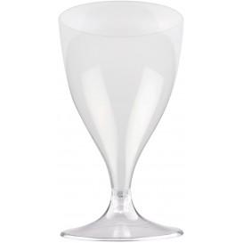Kieliszki Plastikowe Wino na Podstawie Przezroczyste 200ml 2P (400 Sztuk)
