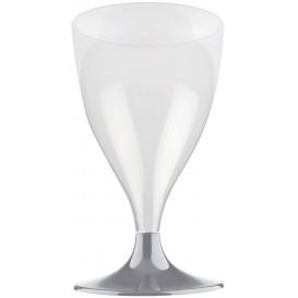 Kieliszki Plastikowe Wino na Podstawie Szare 200ml 2P (400 Sztuk)