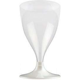 Kieliszki Plastikowe Wino na Podstawie Białe Perełka 200ml 2P (20 Sztuk)
