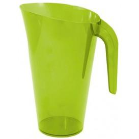 Dzbanek Plastikowy Zielone Wielokrotnego Użytku 1.500 ml (20 Sztuk)