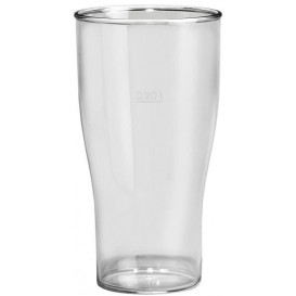 Kubki Wielokrotnego Użytku SAN Piwa Przezroczyste 400ml (80 Sztuk)