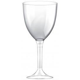 Copa de Plastico Vino con Pie Transparente 300ml (20 Uds)