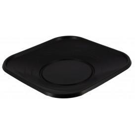 "Talerz Plastikowe PP ""X-Table"" Kwadratowi Czarni 180mm (8 Sztuk)"