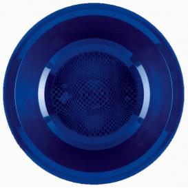 Talerz Plastikowe Głębokie Niebieski Round PP Ø195mm (50 Sztuk)