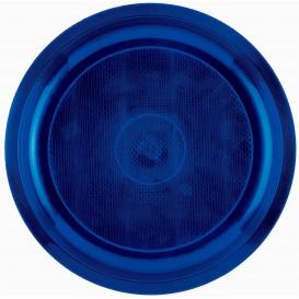 Talerz Plastikowe Niebieski Round PP Ø290mm (25 Sztuk)