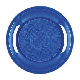 Talerz Plastikowe Deser Niebieski Mediterraneo Round PP Ø185mm (600 Sztuk)