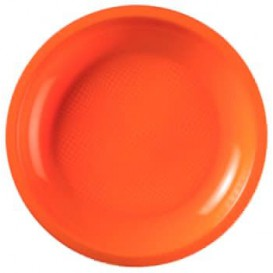 Talerz Plastikowe Płaski Orange Round PP Ø185mm (600 Sztuk)