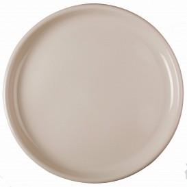 Talerz Plastikowe do Pizzi Beżowy Round PP Ø350mm (144 Sztuk)