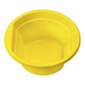 Miski Plastikowe PS Żółty 250ml Ø12cm (30 Sztuk)
