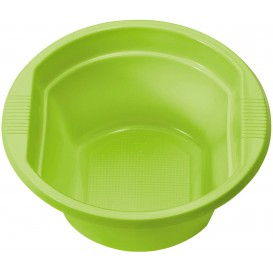 Miski Plastikowe PS Zielony Limonka 250ml Ø12cm (30 Sztuk)
