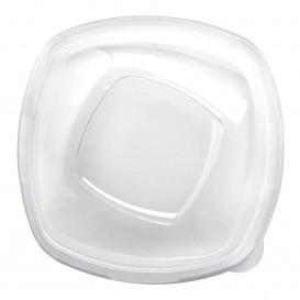 """Pokrywka Plastikowe PET Szkło """"Square"""" Ø21cm (60 Sztuk)"""