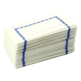 Serwetki Papierowe Zigzag Białe Ozdobne 14x14cm (300 Sztuk)