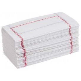 Serwetki Papierowe Zigzag Białe Ozdobne 14x14cm (30000 Sztuk)