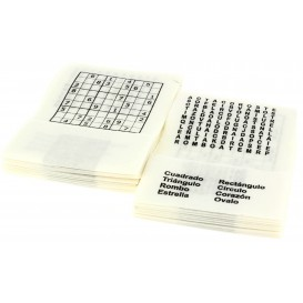 "Serwetkis Papierowe Mini Serwis ""Pasatiempos"" 17x17cm (200 Sztuk)"