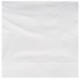 Serwetki Papierowe Ozdobne 25x25cm 2C Białe (200 Sztuk)