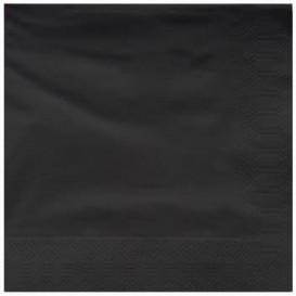Serwetki Papierowe Ozdobne 25x25cm 2C Czarni (200 Sztuk)