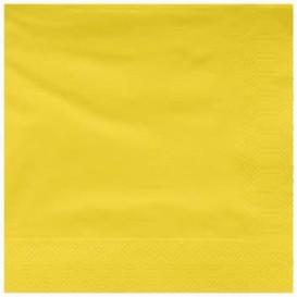 Serwetki Papierowe Ozdobne 25x25cm 2C Żółty (200 Sztuk)