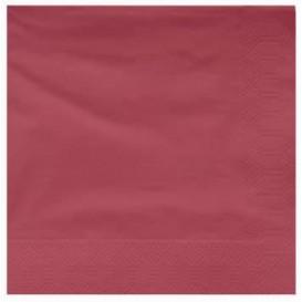 Serwetki Papierowe Ozdobne 25x25cm 2C Bordeaux (3400 Sztuk)