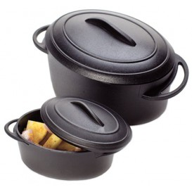 Serving Pot Tray with Lid PP Black 80ml (144 Units)