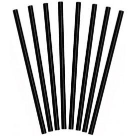 Słomki do Shaków Proste Czarni Ø8mm 25cm (10000 Sztuk)