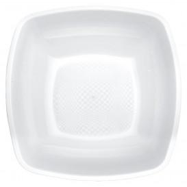 Talerz Plastikowe Głębokie Białe Square PP 180mm (25 Sztuk)