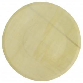 Talerz Drewniane Okrągłe Ø21,5cm (50 Sztuk)