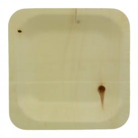 Talerz Drewniane Kwadratowi 11,5x11,5cm (50 Sztuk)