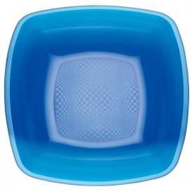 Talerz Plastikowe Głębokie Niebieski Przezroczyste Square PS 180mm (25 Sztuk)