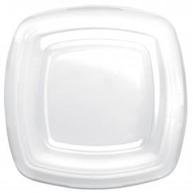 Pokrywka Plastikowe Przezroczyste Talerz Square PET 180mm (25 Sztuk)