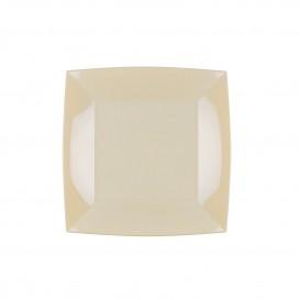 "Plato de Plastico Flat Cream ""Nice"" PP 180mm (300 Units)"
