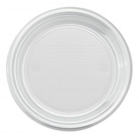 Talerz Plastikowe PS Płaski Przezroczyste Ø220mm (30 Sztuk)