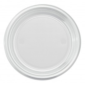 Talerz Plastikowe PS Głębokie Przezroczyste Ø220mm (600 Sztuk)