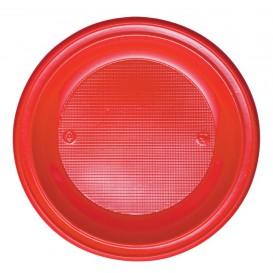 Talerz Plastikowe PS Płaski Czerwerne Ø280mm (10 Sztuk)