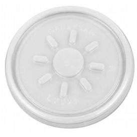 Pokrywka Plastikowe PS Przezroczyste Płaski na Styropianowe Ø7,4cm (100 Sztuk)