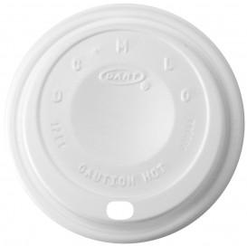 "Pokrywka Plastikowe PS ""Cappuccino"" Białe Ø8,9cm (100 Sztuk)"