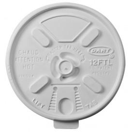 Pokrywka Podwójna Plomba Plastikowe PS Białe Ø8,9cm (100 Sztuk)