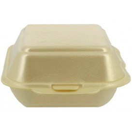 Pudełka na Burgeri Styropianowe Małe Szampana (125 Sztuk)