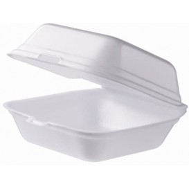 Pudełka na Burgeri Styropianowe Gigant Białe (100 Sztuk)
