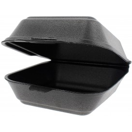 Pudełka na Burgeri Styropianowe Duży Czarni (500 Sztuk)