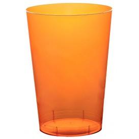 Kubki Plastikowe Księżyc Orange Przezroczyste PS 230ml (50 Sztuk)